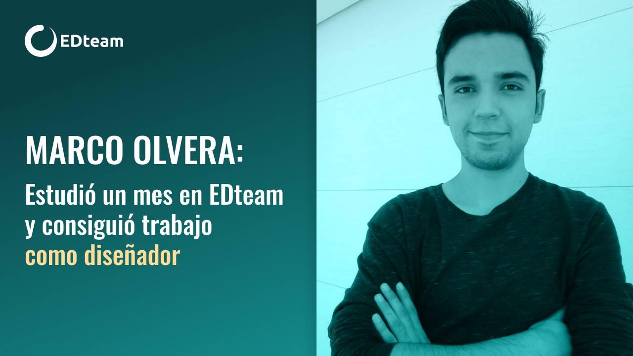 Marco Olvera estudió un mes en EDteam y consiguió trabajo como diseñador con el doble de sueldo