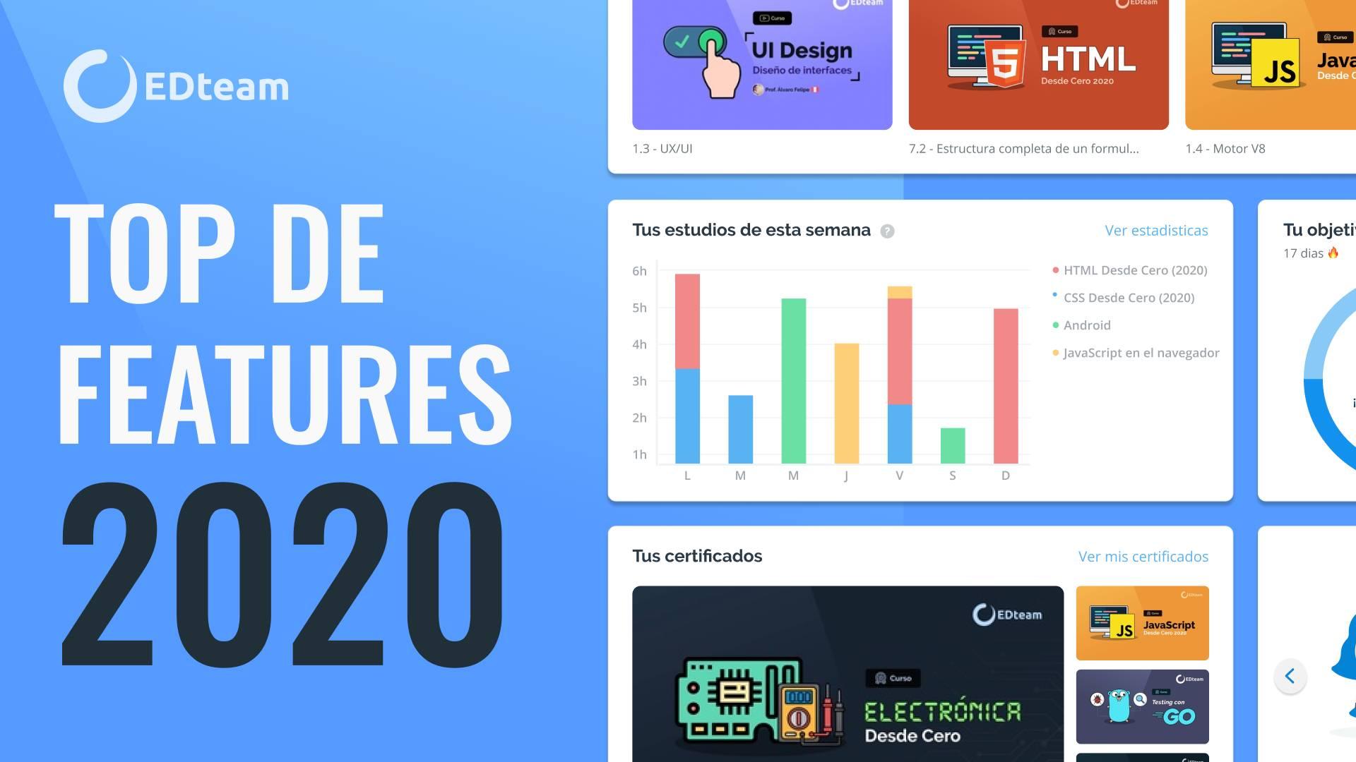 Novedades en la plataforma de EDteam - Edición 2020