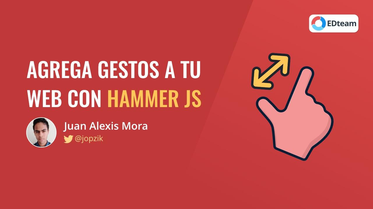 Agrega gestos a tu web con Hammer.js