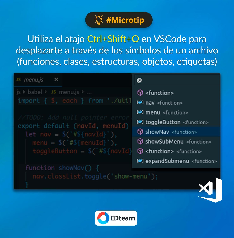 #Microtip: Ir al símbolo en Visual Studio Code