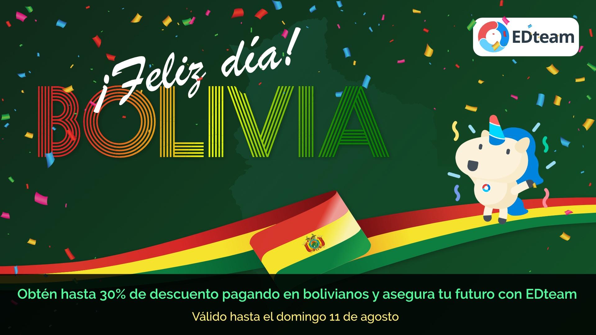 ¡Feliz Día Bolivia! Descuentos en todas las suscripciones premium