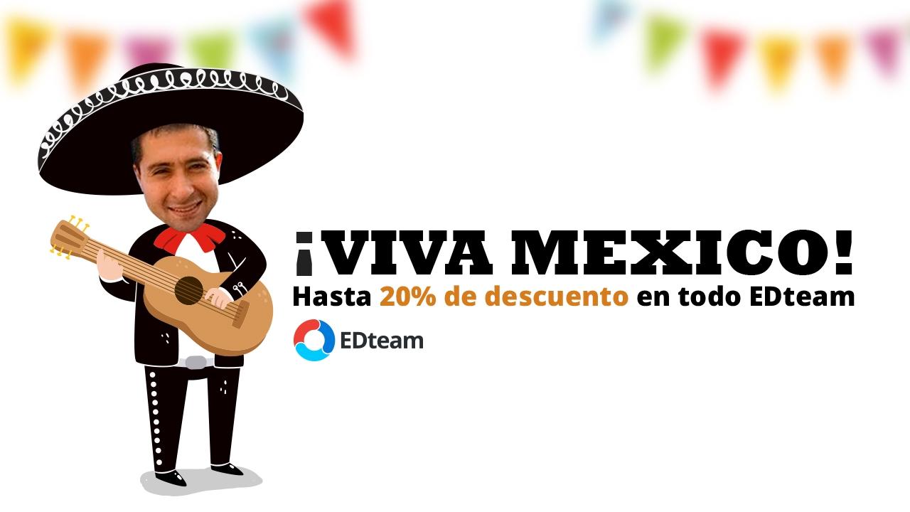 ¡Feliz Día México! Descuentos en todo EDteam