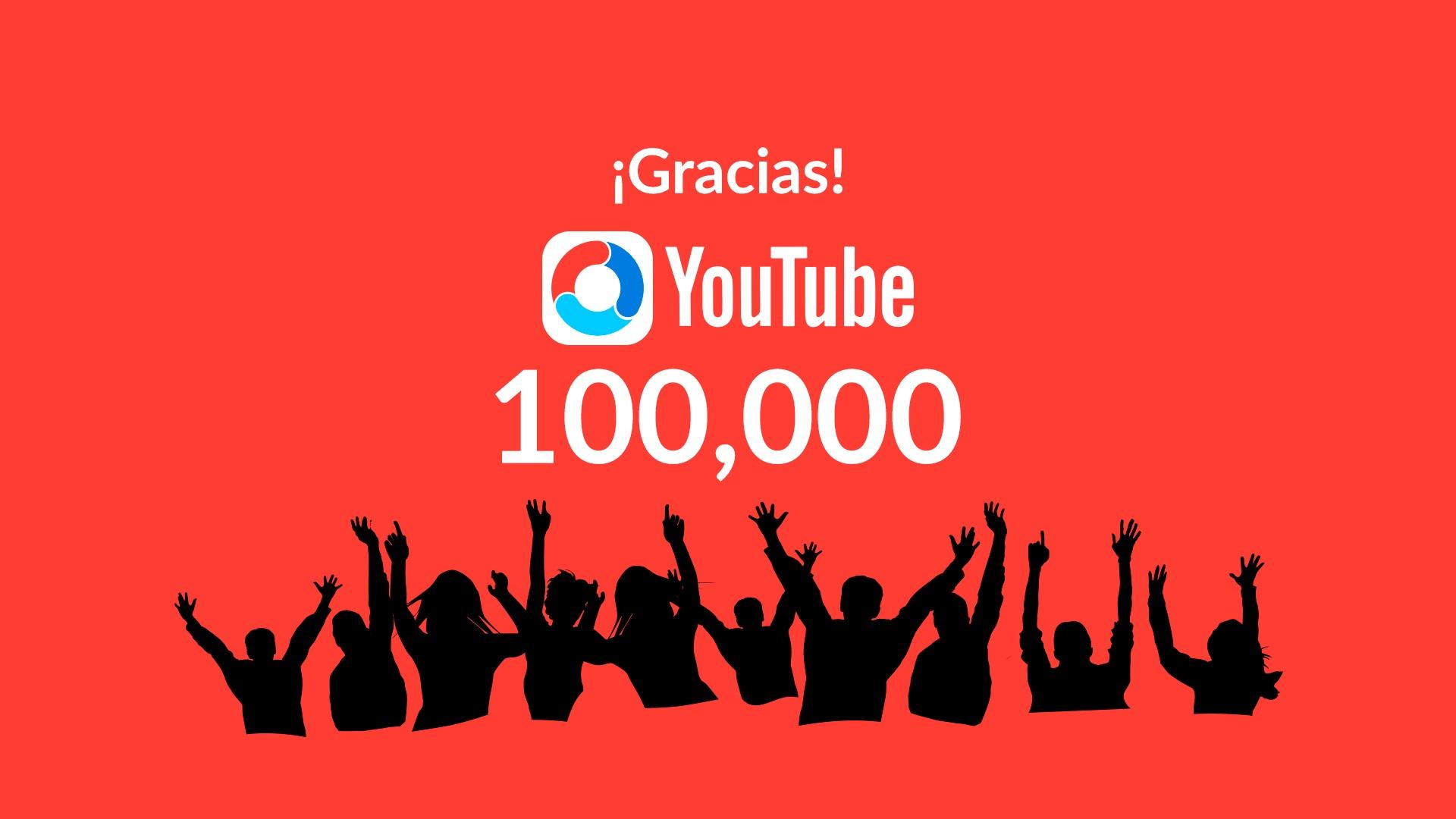 ¡Celebramos los 100 mil suscriptores en YouTube con descuentos y regalos!