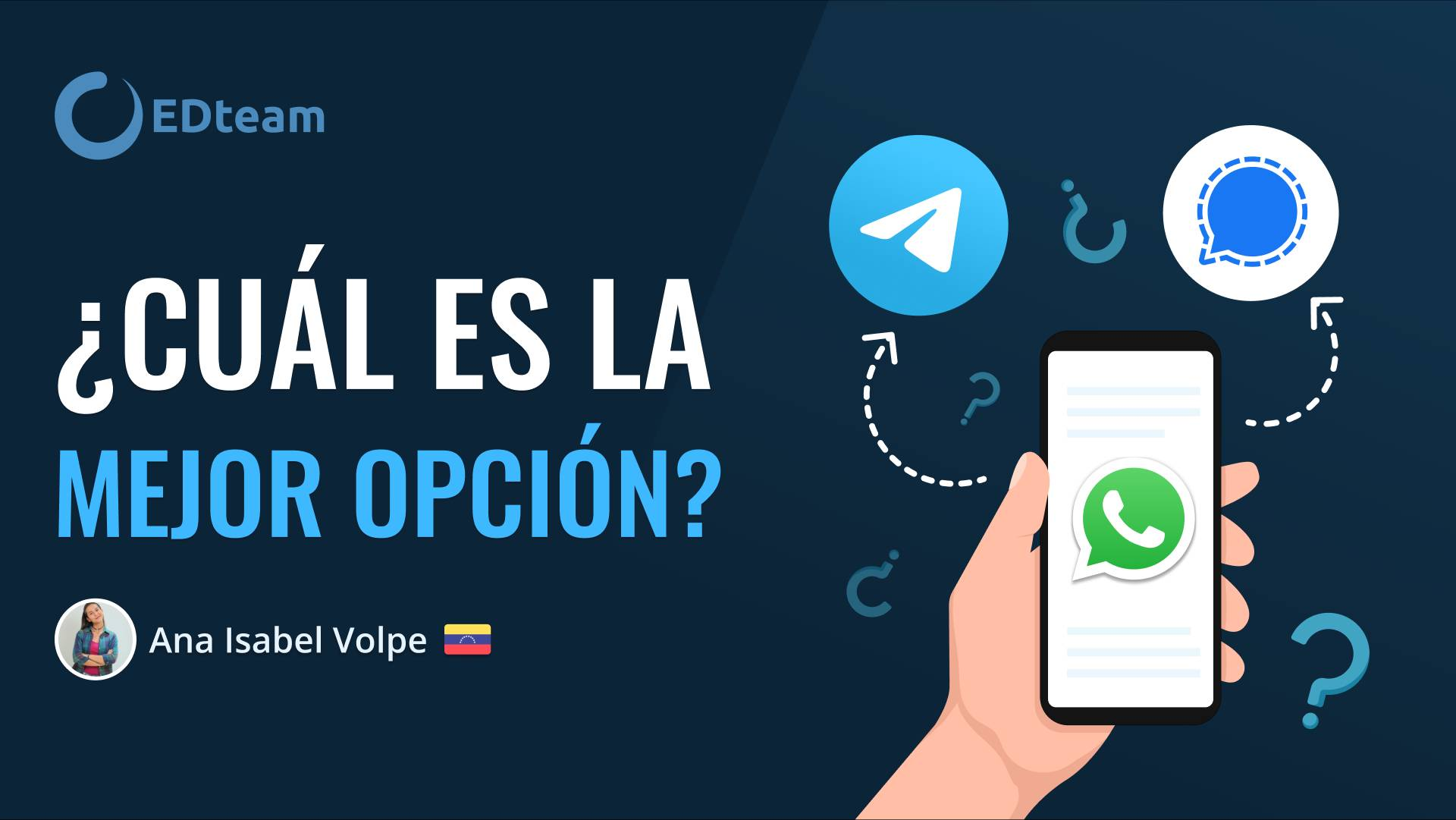 WhatsApp, Telegram o Signal, ¿cuál prefieres?
