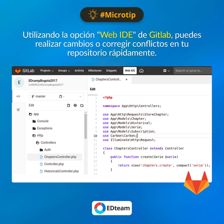 #Microtip: Sabías que Gitlab tiene un IDE integrado