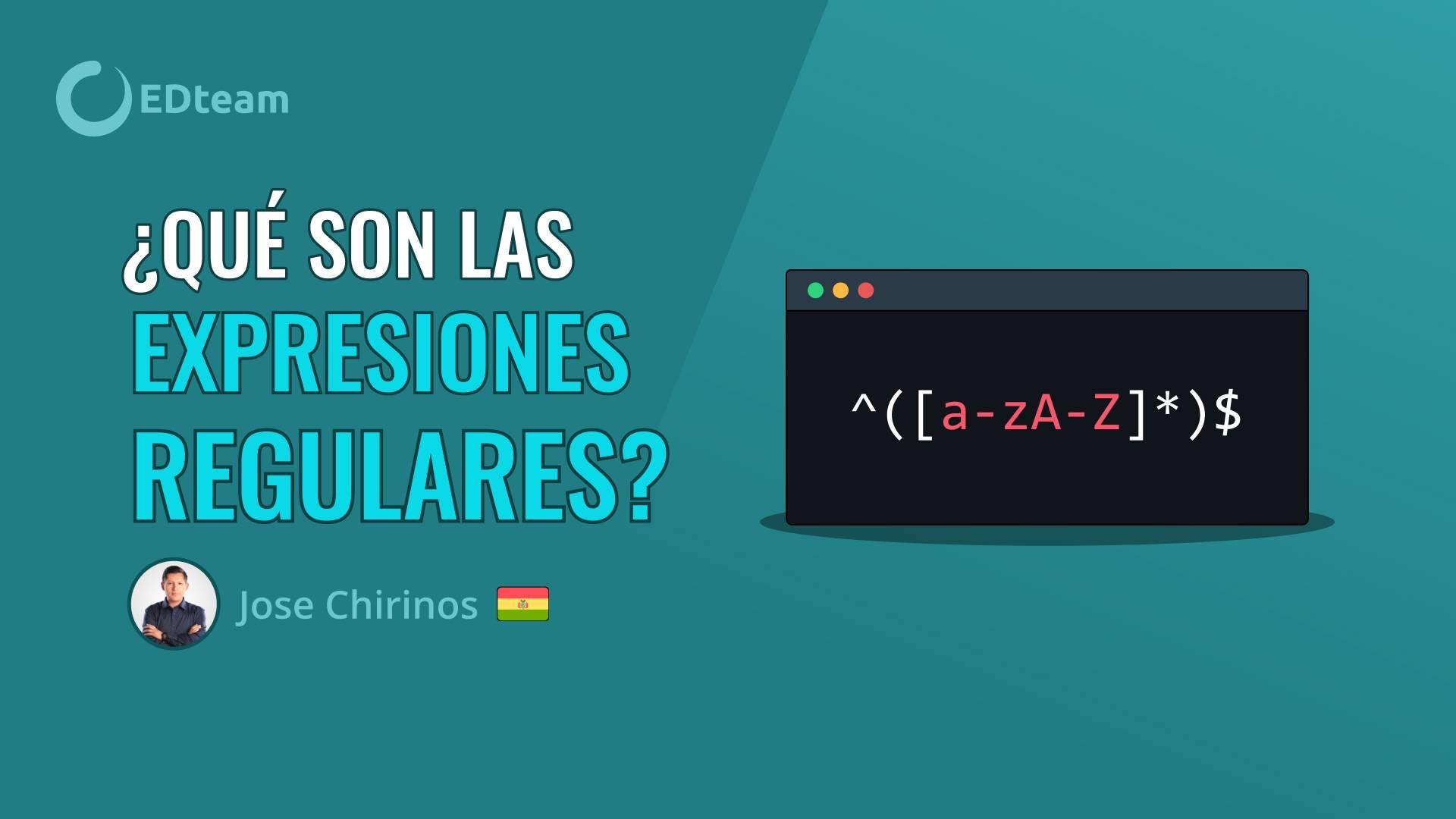 ¿Qué son las expresiones regulares?