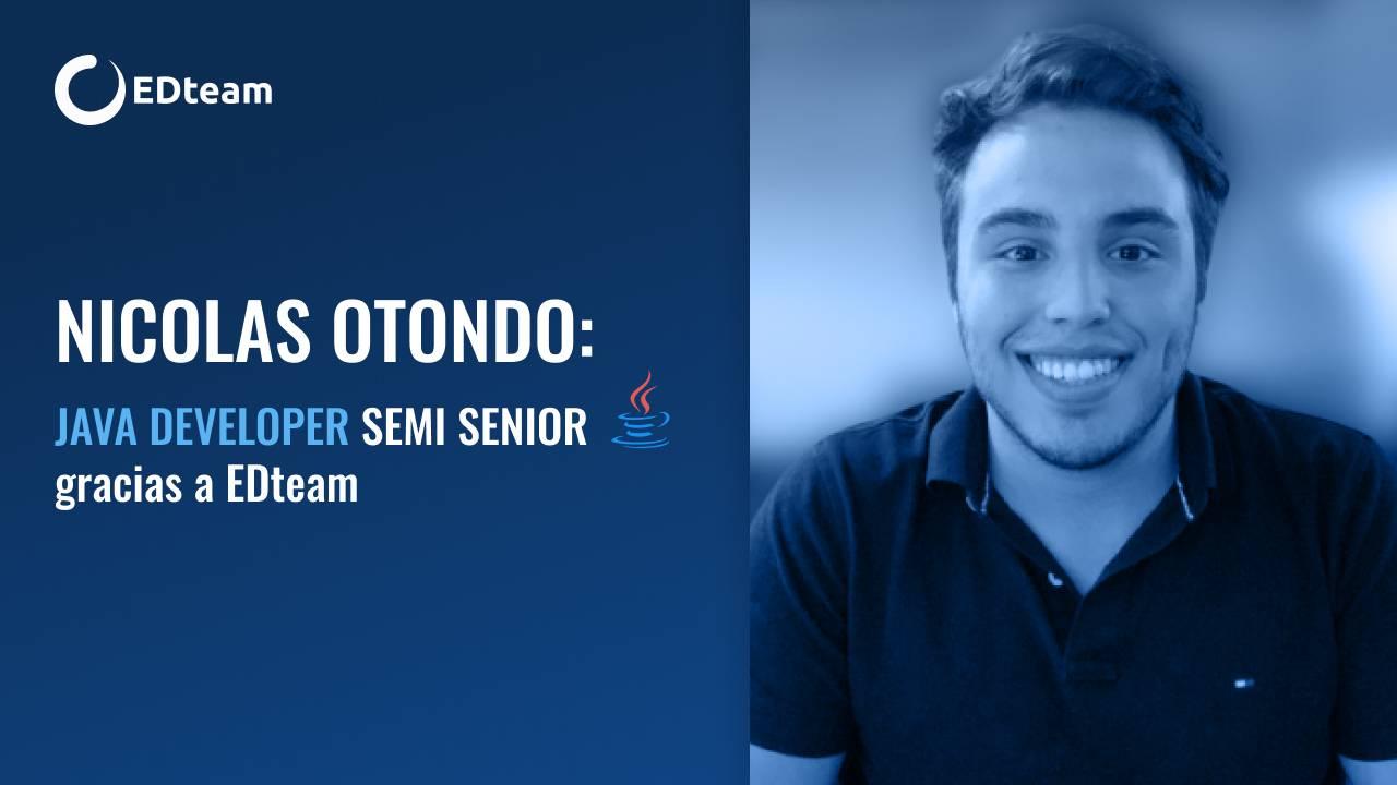Nicolas Otondo: Java Developer Semi senior en Accenture gracias a EDteam