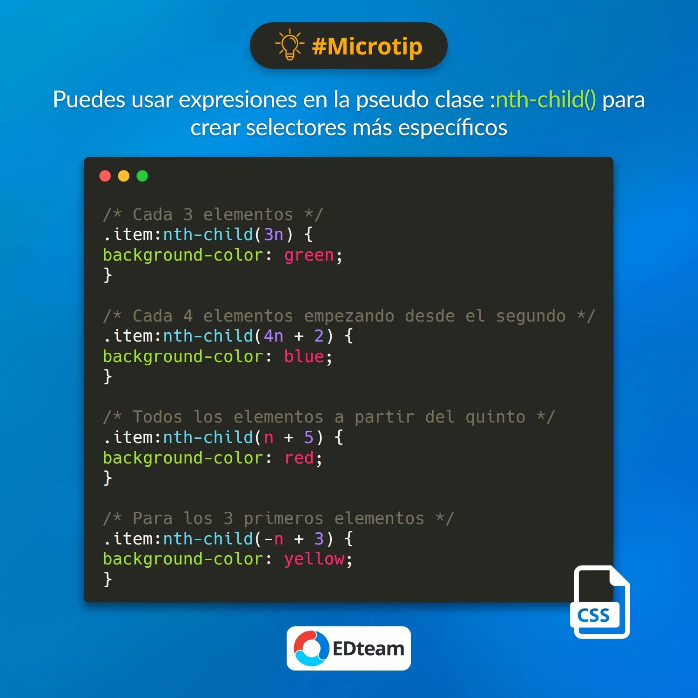 #Microtip: nth-child CSS